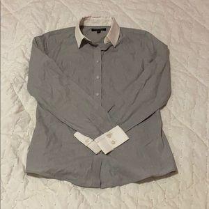 white collar button down